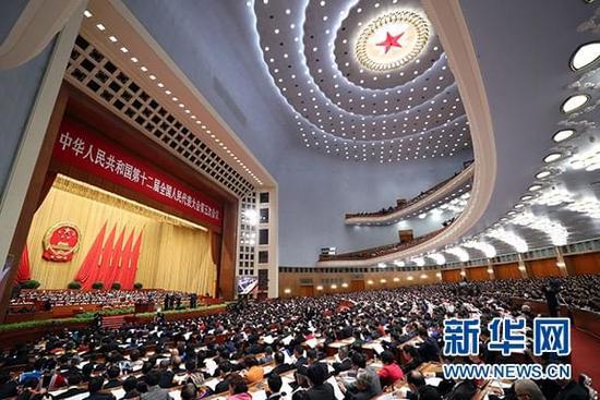 十二届全国人大五次会议在人民大会堂开幕