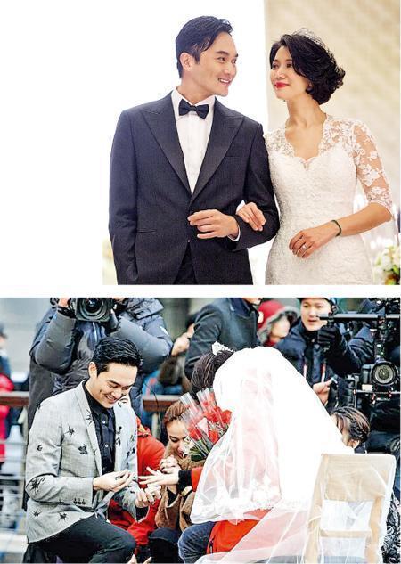 张智霖口说不会跪地,但他曾在内地真人秀《一路上有你》于韩国首尔街头单膝跪地向老婆袁咏仪献上戒指及玫瑰求婚。