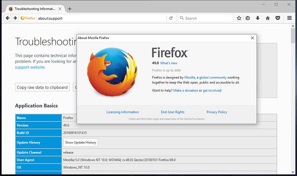 Mozilla Firefox 49.0.1 修正版发布的照片 - 1