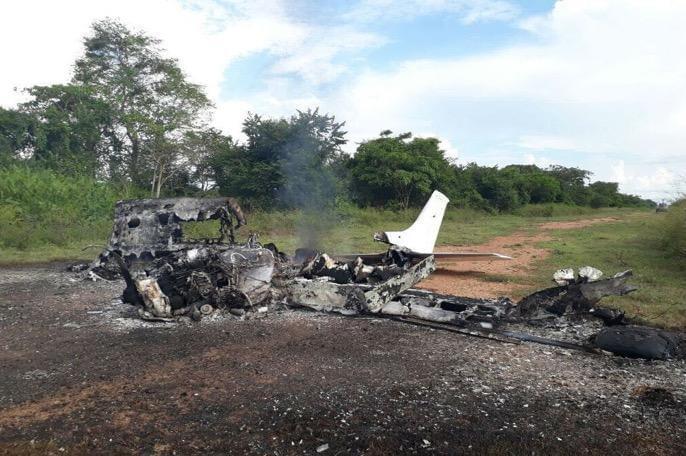 哥伦比亚空军击落运毒飞机 查获400公斤可卡因