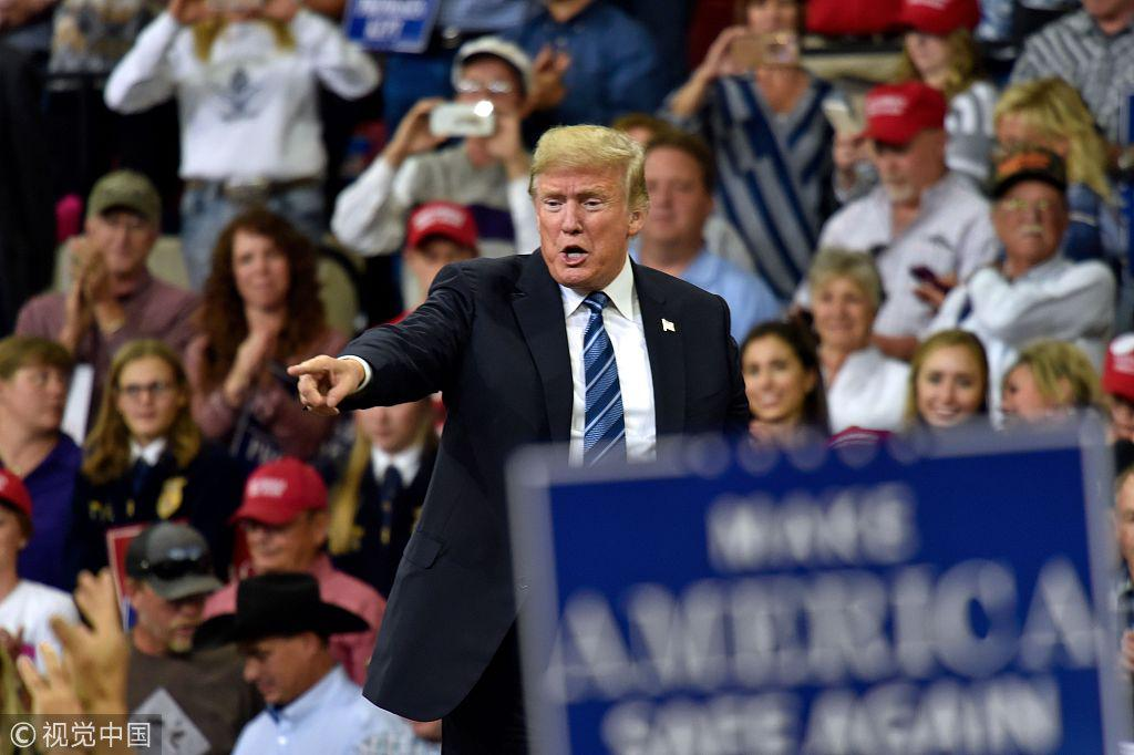 """特朗普""""威胁""""支持者:如果我被弹劾 就是你们的错"""
