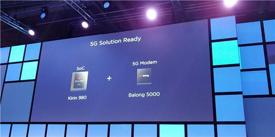 华为发布5G基带Balong 5000:麒麟980可支持