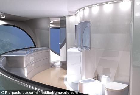 意设计师设计UFO形状游艇 两年后实现飞行功能的照片 - 5