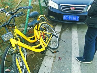 """加装私锁 共享单车成""""专车"""""""