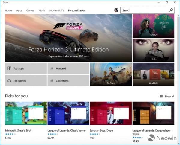 Windows Store将售Windows 10 UI主题 最高2.49美元的照片