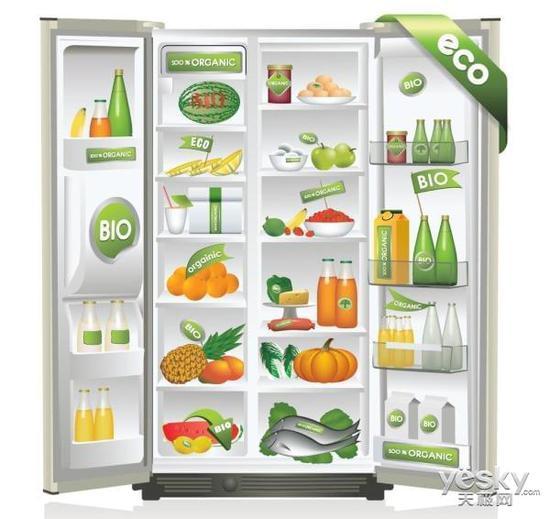 冰箱的内部结构并不复杂,在清洁时可以将托盘取下,再进行擦拭.