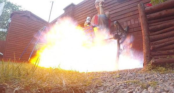 英国男子恶作剧导致火灾 致父亲身陷火海被烧伤