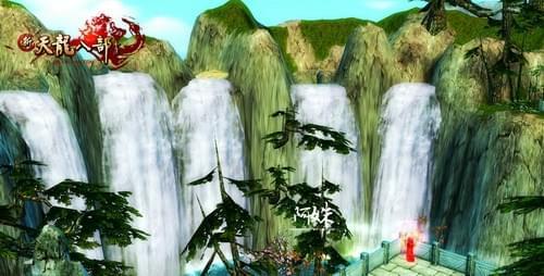 老君坛眺望瀑布