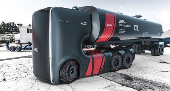 未来感十足的奥迪概念卡车的照片 - 1