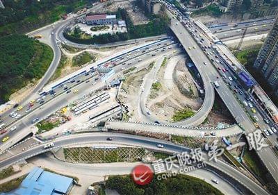 重庆磁器口下穿道已打通 新沙滨路串起四座大桥