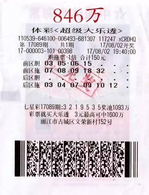 游客丽江游玩中846万头奖 美景刺激选号灵感