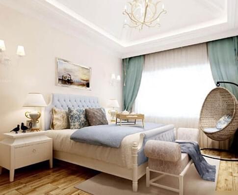 欧式卧室家具浅色