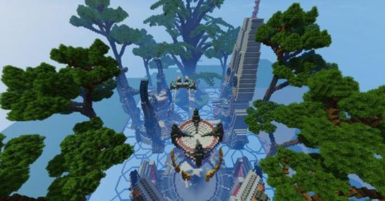 我的世界里的古代丛林部落 弗洛里安树世界
