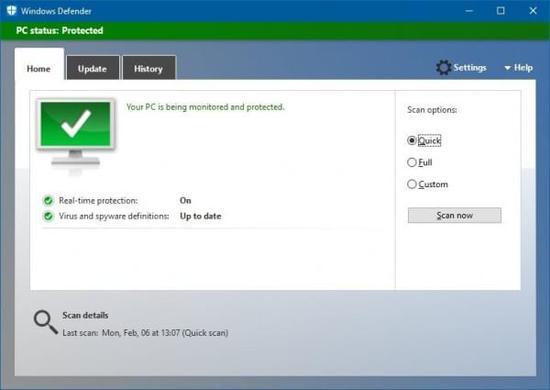 微软杀毒软件Windows Defender即将再进化