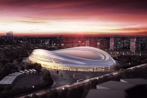 北京冬奥建设各项目设置600天倒计时牌