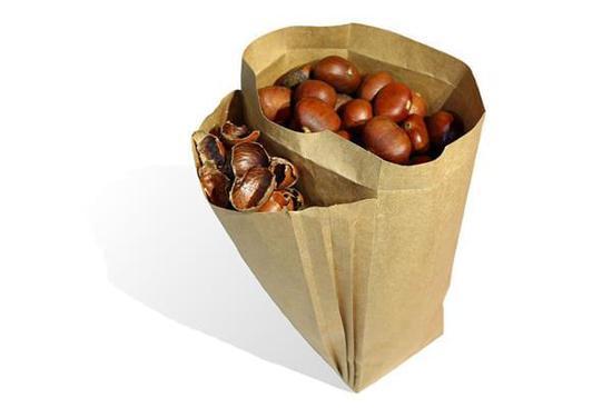 專門為板栗設計個袋子 吃個板栗都這麽講究