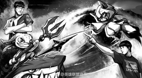 英雄联盟L官方发布LPL总决赛漫画 WE和RNG的决战