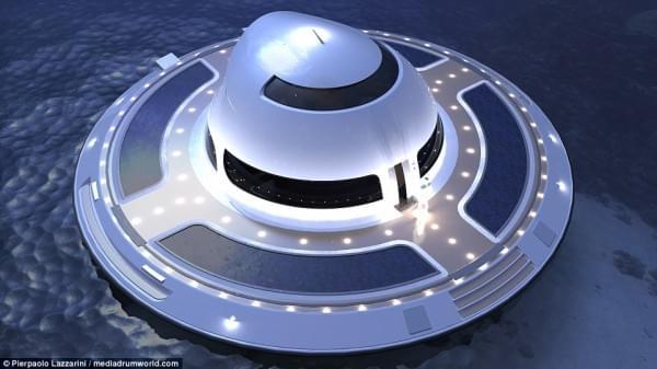 意设计师设计UFO形状游艇 两年后实现飞行功能的照片 - 2
