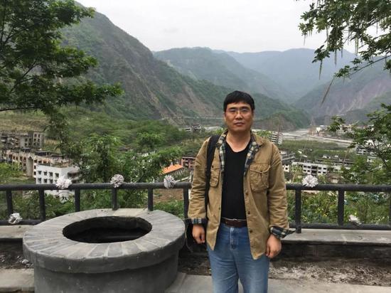 柴会群2018年重访北川留影。受访者供图