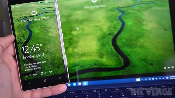 iPhone和Android手机将迎来微软的Windows Hello功能的照片
