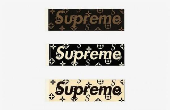 印有lv的monogram花纹的滑板(supreme文化根源)