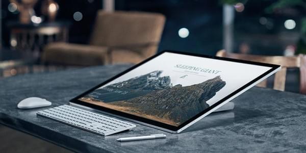 赚钱新招 微软可拆分Surface Studio高端显示屏单独卖的照片