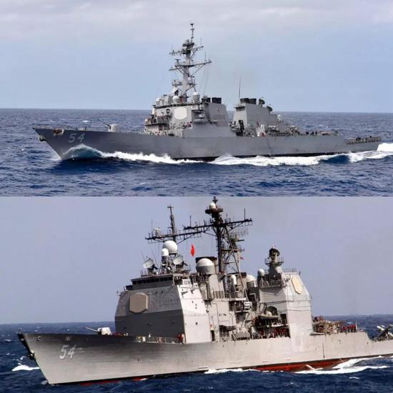 美国两艘军舰穿越台湾海峡 多艘中国军舰监视