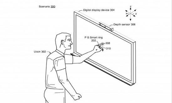 微软的智能指环新专利再度曝光:可识别手势