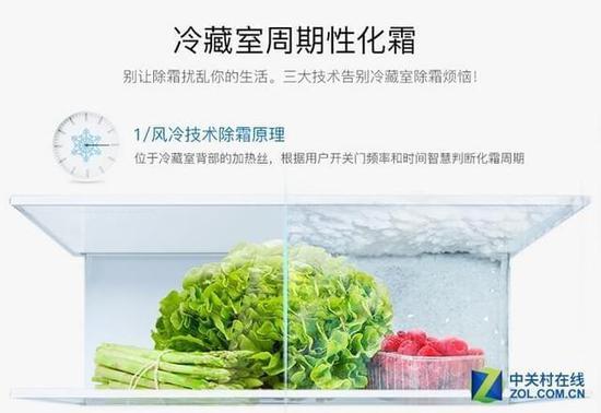 智能化霜功能能够解决直冷式冰箱结霜问题