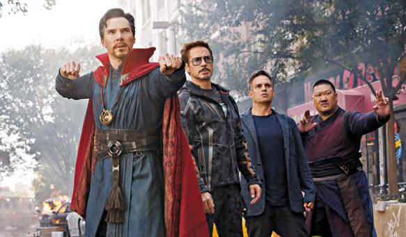 《复仇者联盟3:无限之战》创香港上映当天票房冠军