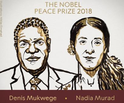 2018诺贝尔和平奖揭晓 刚果医生和伊拉克少女获奖