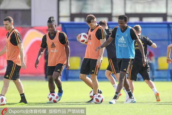 比利时球员备战训练