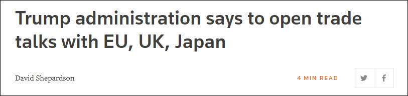 """要对华使坏塞""""毒丸""""?美欲开启与欧英日贸易谈判"""