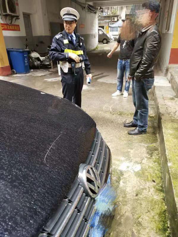 女子將他人車輛劃45厘米劃痕 因其占自己常用車位