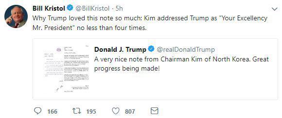 特朗普晒金正恩来信  两人将再次碰面吗?