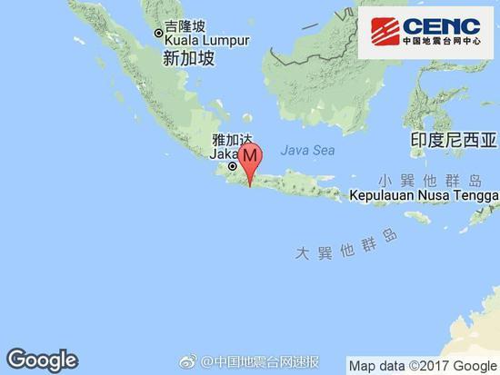 印尼西爪哇海域发生6.7级地震 政府启动海啸预警