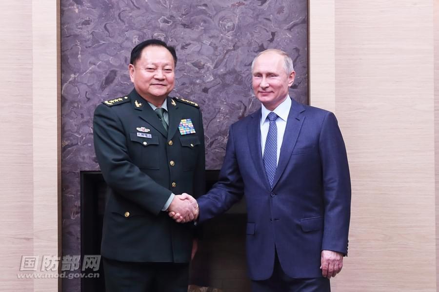俄罗斯总统普京会见张又侠 高度评价中俄战略协作