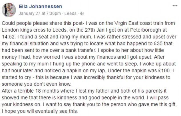 女大学生火车上打电话向母亲哭穷 醒来后腿上多了笔钱