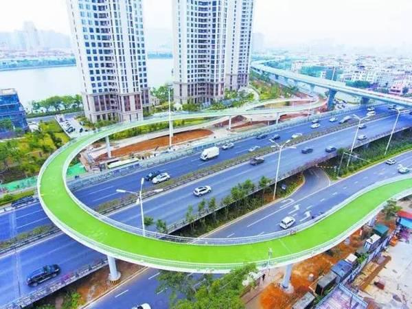 全国首条空中自行车道建成 全长7.6公里的照片 - 22