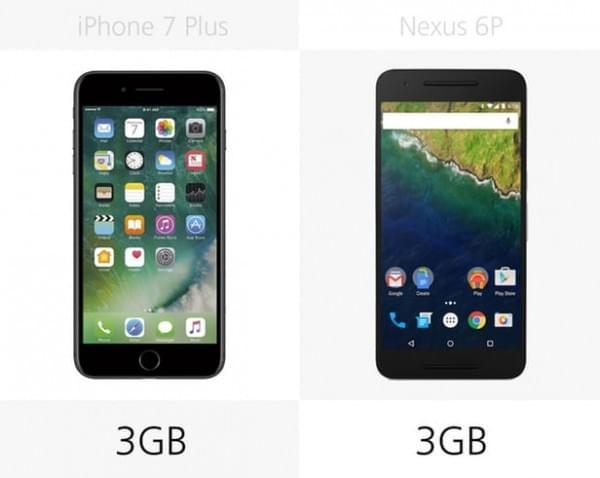 iPhone 7 Plus和Nexus 6P规格参数对比的照片 - 19