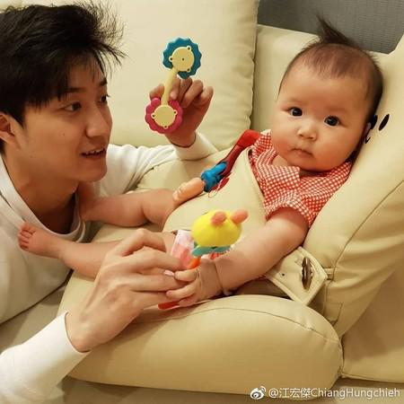 江宏杰与女儿