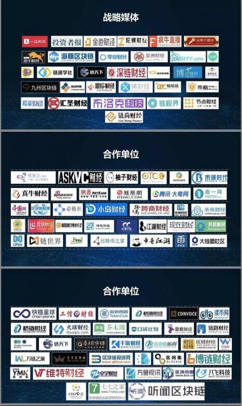 迪拜全球区块链大会招商手册中的媒体参与展示