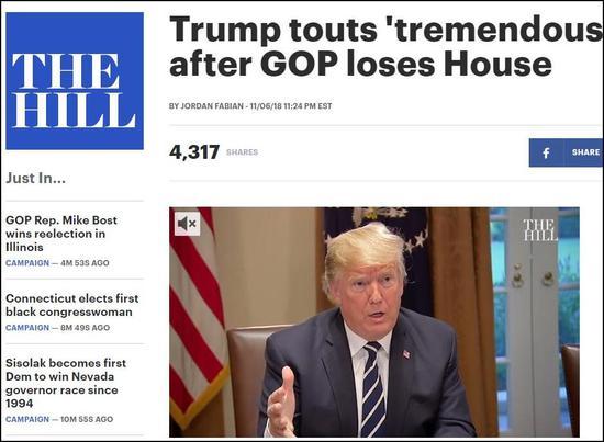 特朗普发推自夸