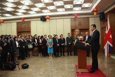 驻英国大使刘晓明在建军89周年招待会上的讲话