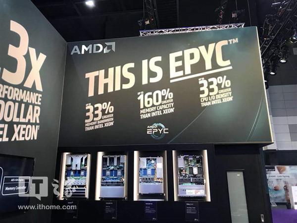 AMD玩大了 展会用大海报笑话Intel Xeon处理器