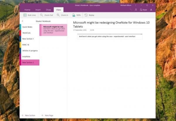 微软:OneNote UWP应用将带来全新的使用体验的照片