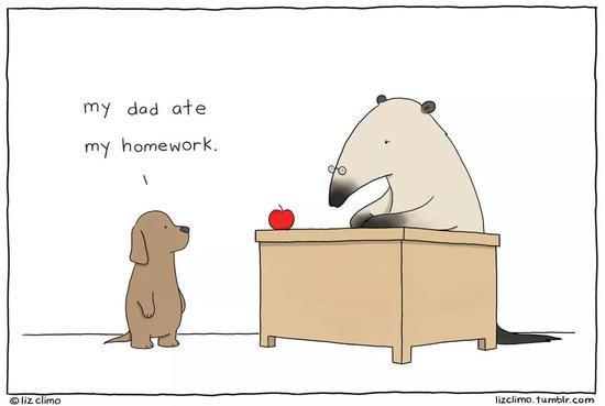 狗宝宝:我爸爸吃了我的作业。