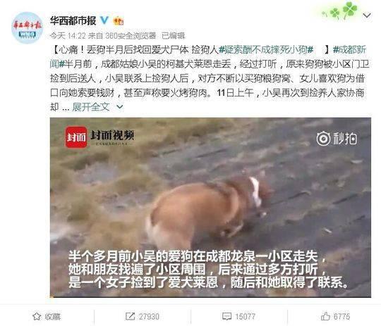 网传四川师大老师摔死狗 学校辟谣:非我校教职工