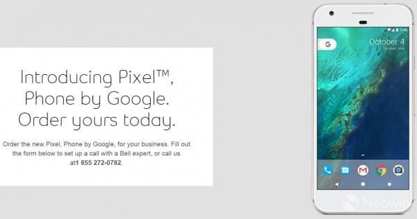 加拿大运营商意外泄露即将发布的Pixel/Pixel XL的照片 - 1