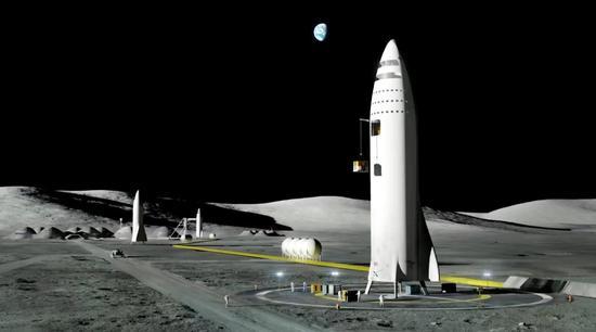 spacex公布未来火星基地和强大bfr火箭设计!